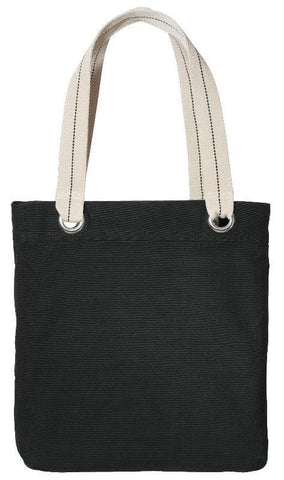 6 ct Colorful Cotton Canvas Allie Tote Bag with Interior Lining - Pack of 6
