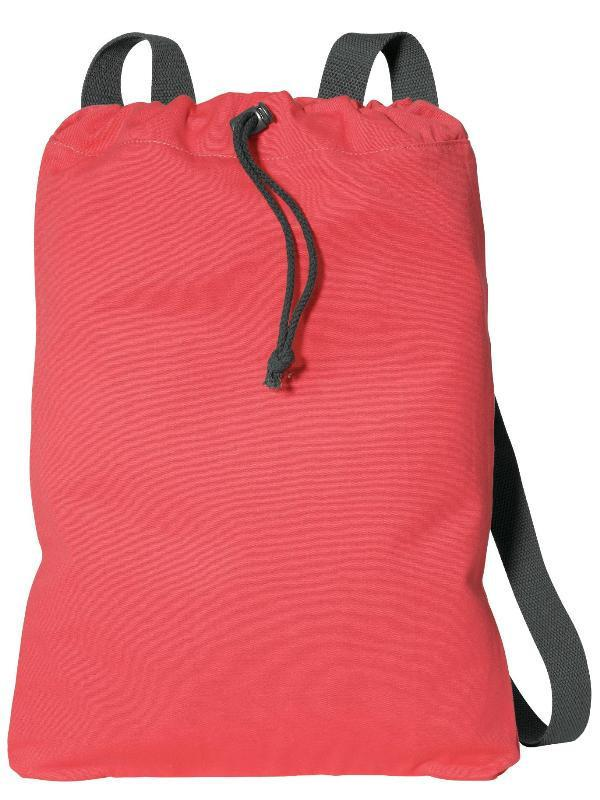 ... Wholesale Cotton Canvas Drawstring Backpacks in Red ... 8ffb10e707c8