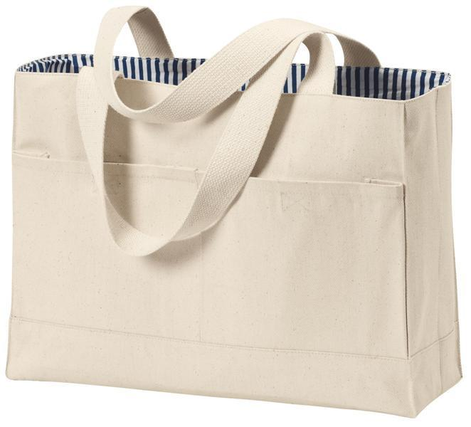 100 Cotton Twill Double Pocket Tote