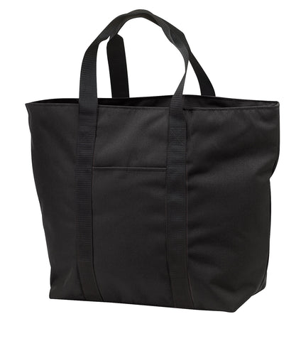 All-Purpose Shoulder Tote Bag w/Zippered Closure Polyester Travel, Beach Totes