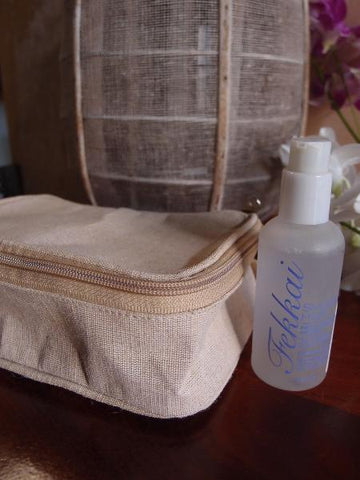 6 ct Canvas Zippered Toiletry Bag Travel Dopp Kit - Pack of 6