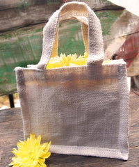 Small Burlap Party Favor Bags / Jute Gift Tote Bags  TJ767
