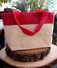 red juco tote bags