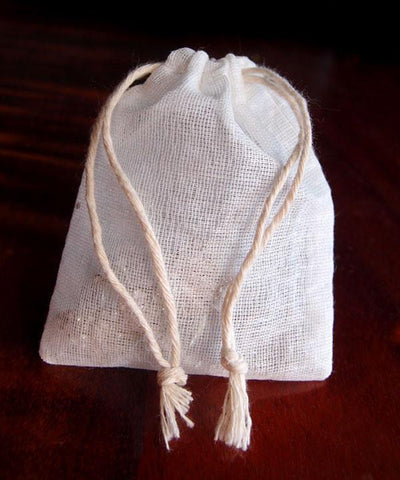 Mesh Favor Bags with Cotton Drawstring Closure White (Pack of 12)