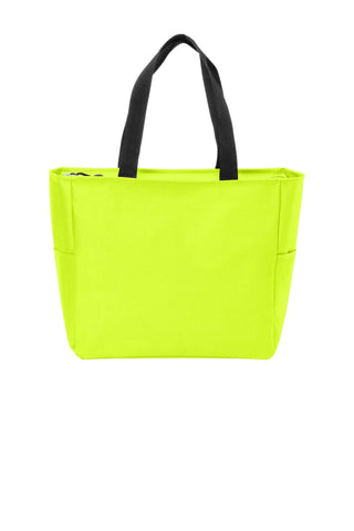 Polyester Improved Essential Tote Bags with Zippered Closure