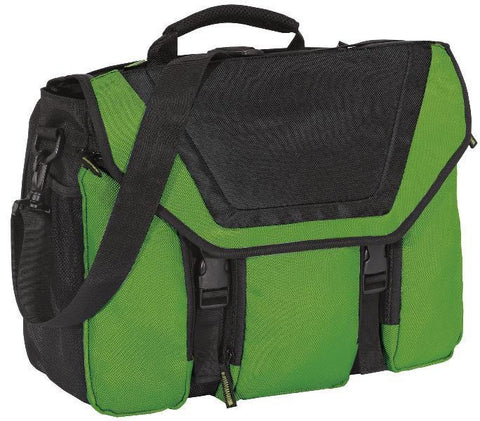 "Messenger Bag Briefcase with 17"" Laptop Sleeve"
