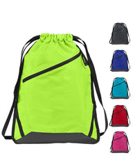 drawstring bag - Zipper Drawstring bag