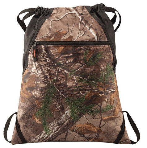 60 ct Camouflage Patterned Outdoor Drawstring Backpacks - By Case