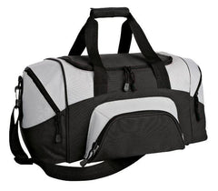 Poly Colorblock Small Sport Duffel With Zippered Pockets