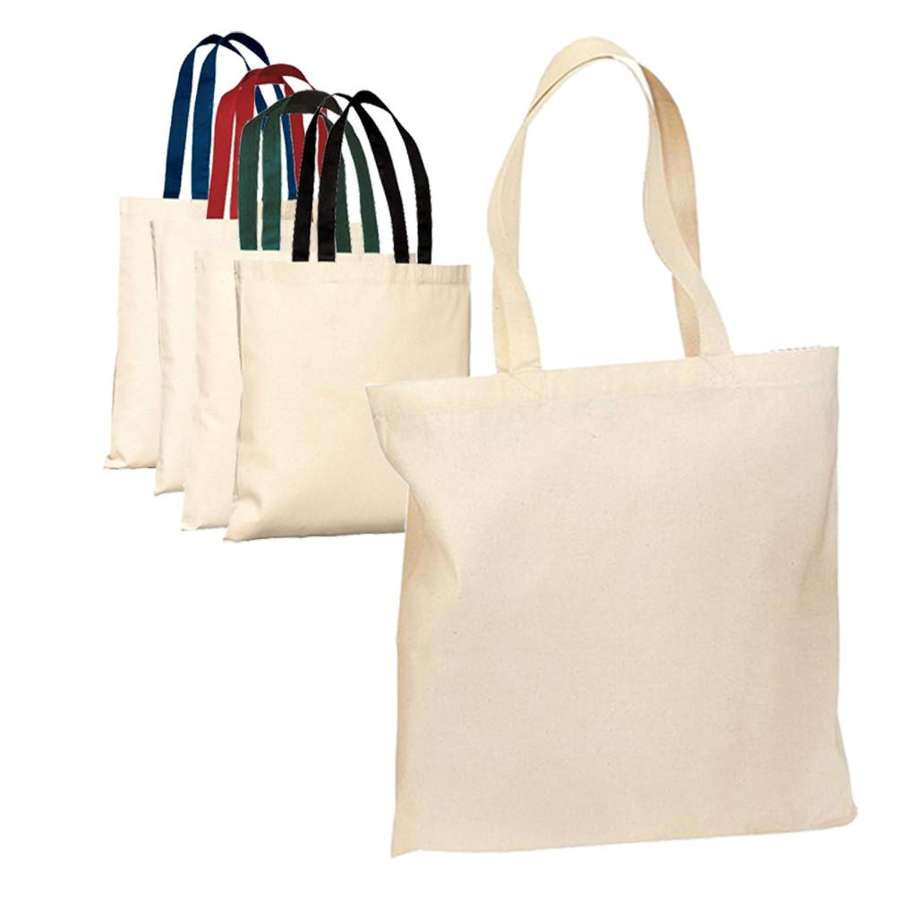 Tote bag in bulk - Wholesale Cotton Tote Bag With Contrast Handles