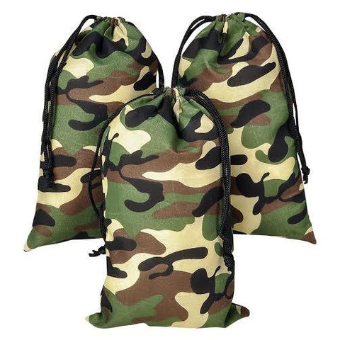 Small Camouflage Drawstring Bags