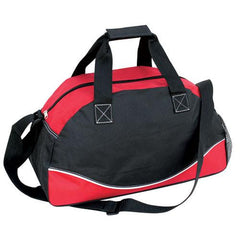 "17"" Tri Tone Duffle Bag W/ Large Print Area"