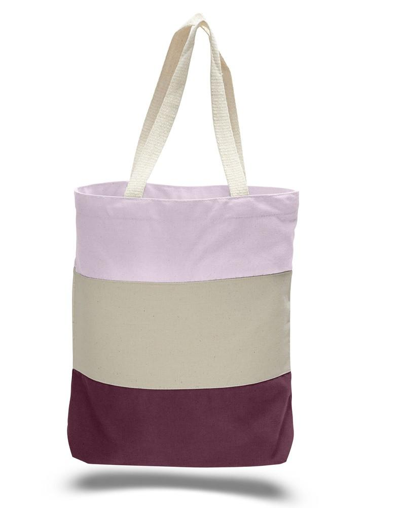 aff8b8c564 ... Cheap Canvas Tote Bags Tri Color Maroon ...