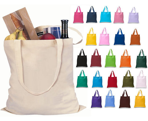 Set of 24 - Cotton Canvas Tote Bags - High Quality TOB293