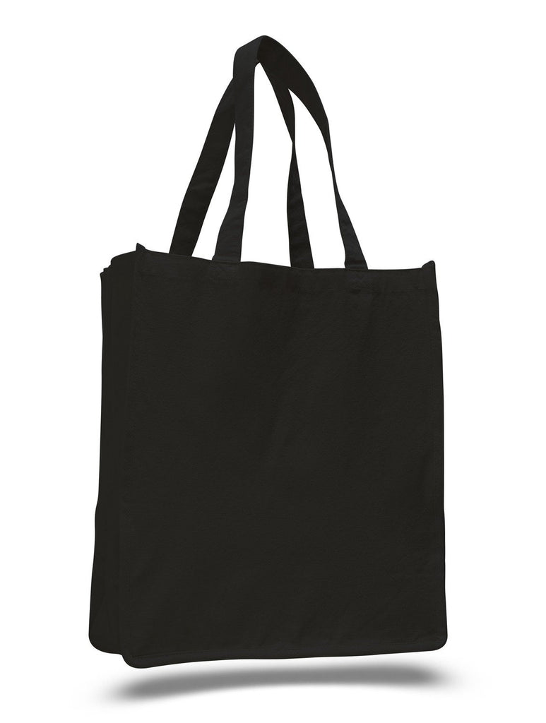 9c9d4cc3fb ... Cheap Heavy Canvas Shopper Tote Bags in Black ...