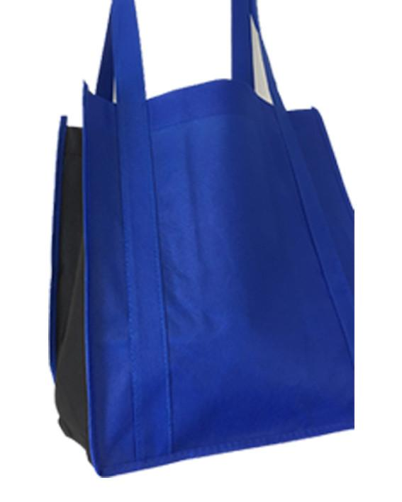 aa5302998a ... Two-Tone Grocery Shopping Tote Bag Wholesale Blue ...