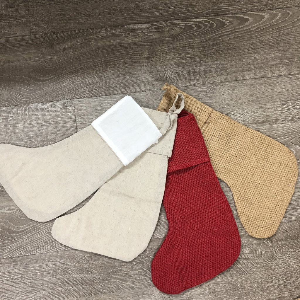 Burlap Christmas Stockings.16