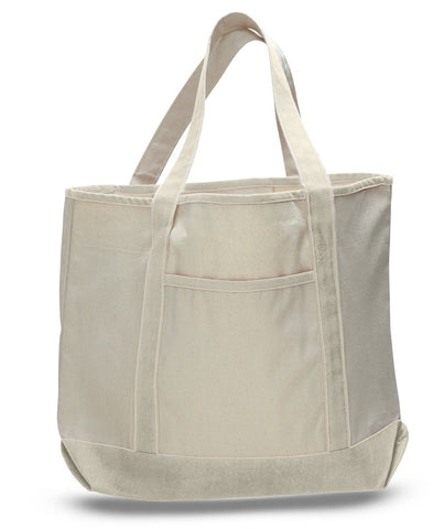 12 ct Jumbo Size Heavy Canvas Deluxe Tote Bag - By Dozen