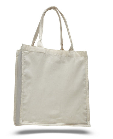 96 ct Fancy 100% Cotton  Shopper Tote Bags Wholesale - By Case