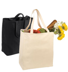 Wholesale Blank Over-the-Shoulder Grocery Tote Bag