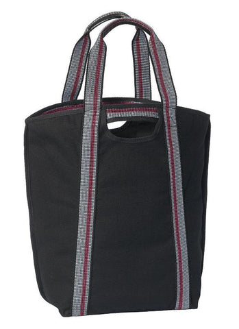Carryall Cotton Canvas Tote Bag with Cell Phone Pockets (CLOSEOUT)