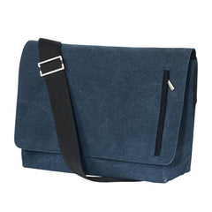 Promotional Indigo/Black Washed Cotton Messenger Bags