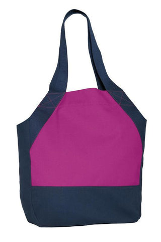 On-the-Go Cotton Canvas Tote Bag with Magnet Snaps Closure