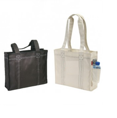 Polyester Deluxe Tote Bag with Easy Access Side Pocket