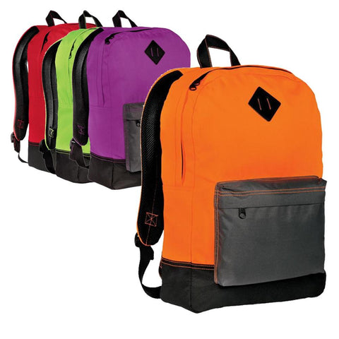 Retro Backpack with Multiple Pockets and Media Port