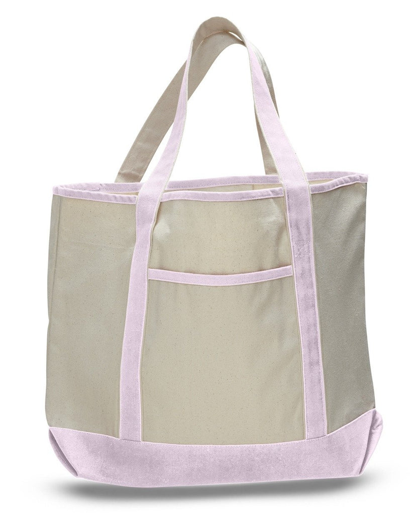9070ee62175 ... Wholesale Light Pink Canvas Deluxe Tote Bag ...