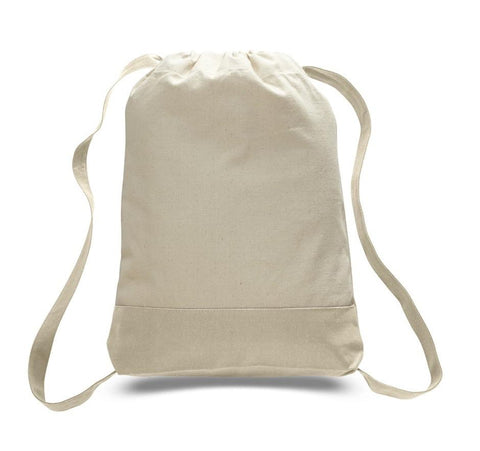 Two Tone Canvas Sport Backpacks / Wholesale Drawstring Bags - BPK57
