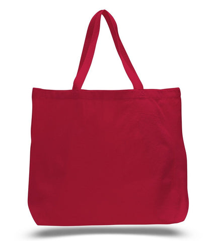 Jumbo Canvas Wholesale Tote Bag with Long Web Handles -TG260