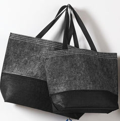Felt Cheap Tote Bags Large Black