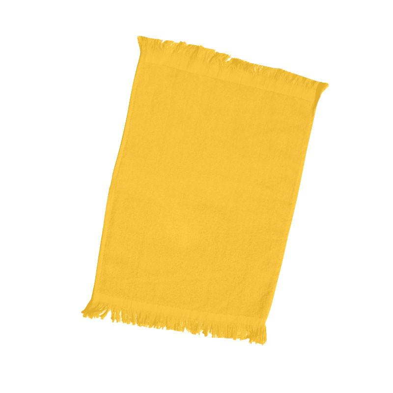 promotional fringed towel gold