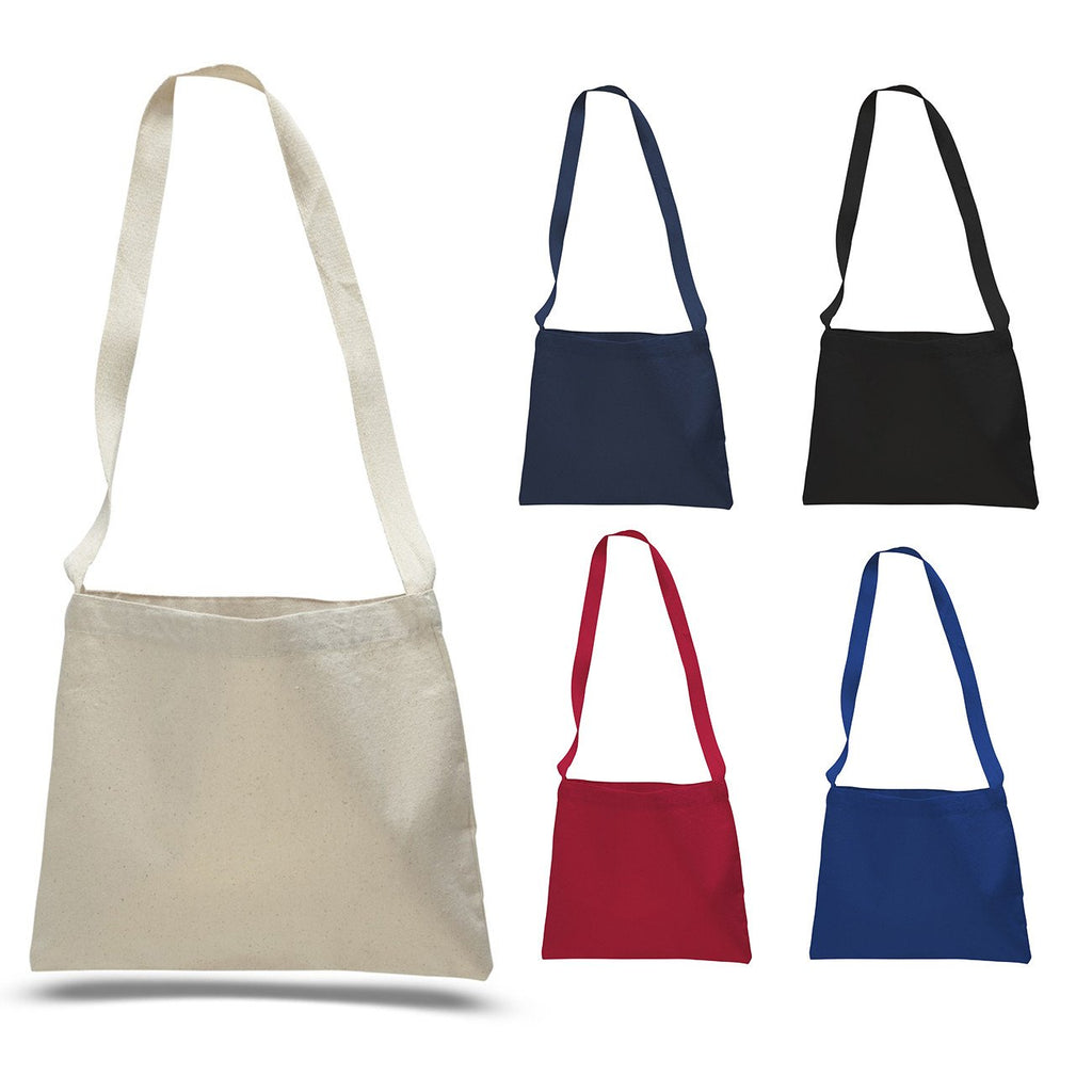 Small Messenger Canvas Tote Bag with Long Straps ... 5cdc04b35b916