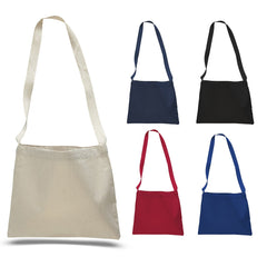 Small Messenger Canvas Tote Bag with Long Straps