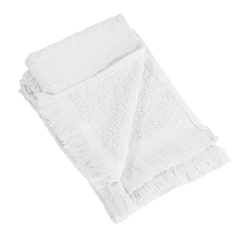 "11"" x 18 Velour Fringed Fingertip Towels by the Dozen"