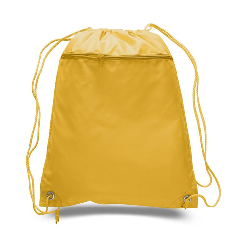 Promotional Polyester Value Drawstring Bags with Front Pocket POL11
