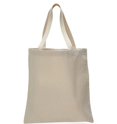 12 ct High Quality Promotional 100% Canvas Tote Bags - By Dozen