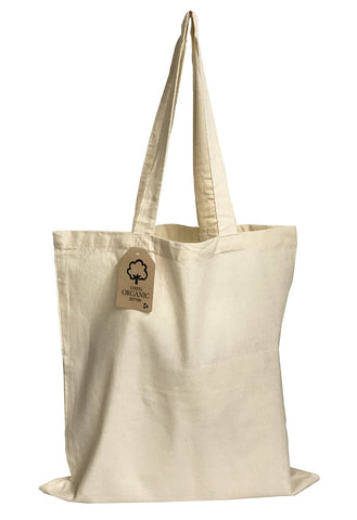 12 ct Organic Cotton Canvas Tote Bags - By Dozen