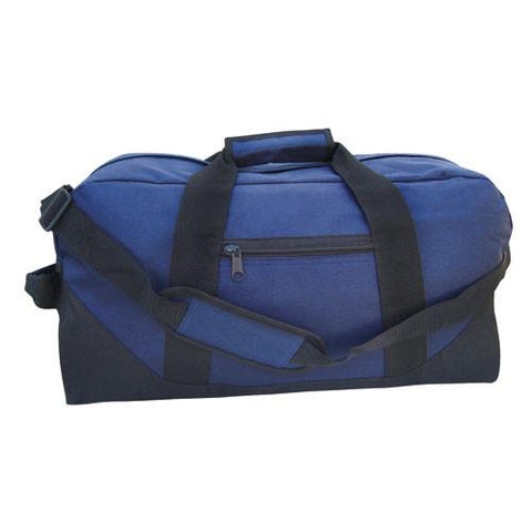 "21"" Economical Large Size Two Tone Duffle Bag"