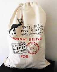 Customizable North Pole Canvas Santa Sacks - Large / Medium