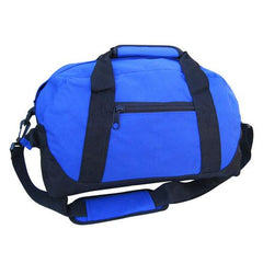 "14"" Small Size Two Tone Duffle Bag W/Velcro Handle"