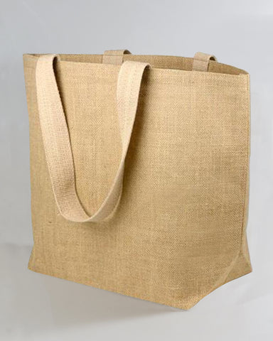 50 ct Large Jute Beach Bag / Burlap Beach Totes - By Case