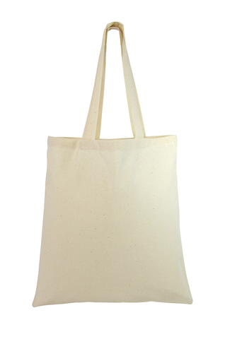 240 ct Premium Quality 100% Cotton Reusable Tote Bags - By Case
