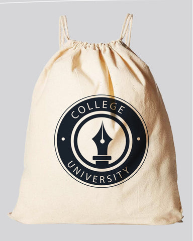 Organic Cotton Canvas Drawstring Bags - Organic Drawstring Bags With Your Logo