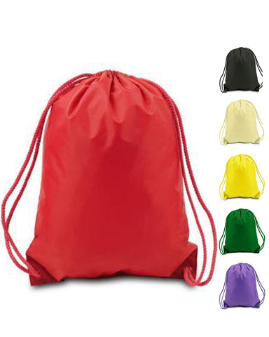 216 ct Drawstring Backpacks Sport Cinch Bags - MEDIUM - By Case