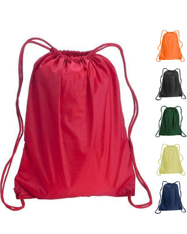 216 ct Drawstring Backpacks Sport Cinch Bags - LARGE - By Case