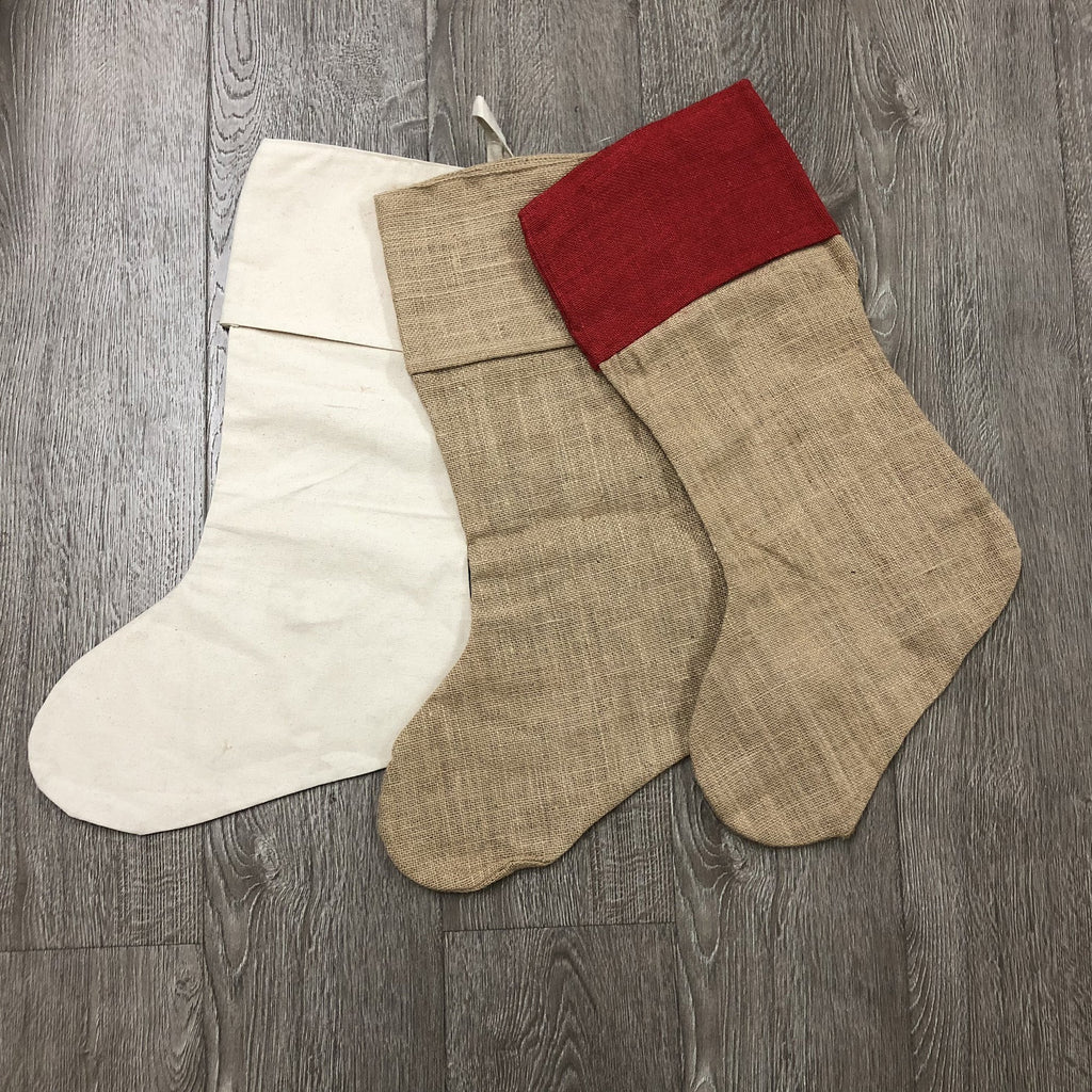 Burlap Christmas Stockings.17