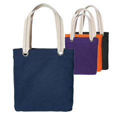 Colorful Cotton Canvas Allie Tote Bag